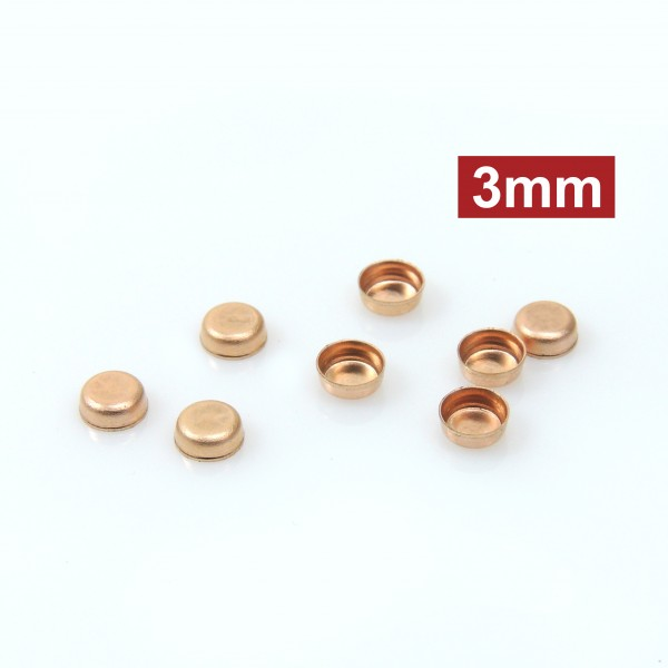 Rose Gold Filled round 3mm bezel