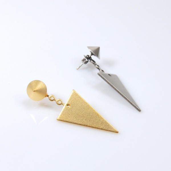 Modern Triangle Geometric Post Dangle Earrings