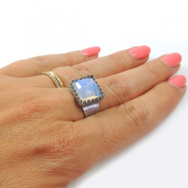 Square 12mm Adjustable Ring Setting Fit Swarovski 4447