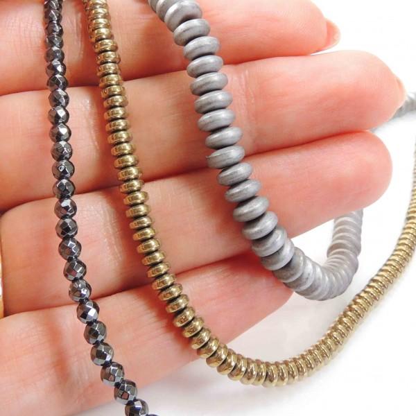 Natural Hematite Beads 16