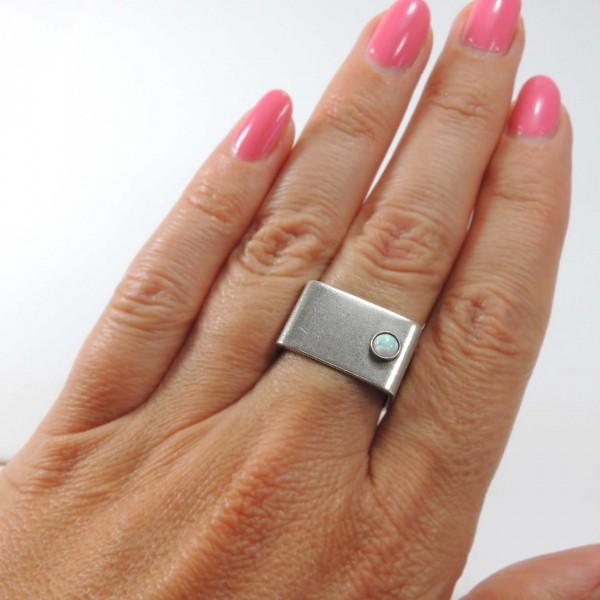 Round 4mm Bezel Ring fit Flat Back Gemstone