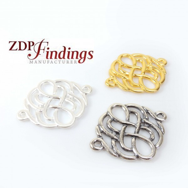 48mm Metal Frame Link Connector Pendant
