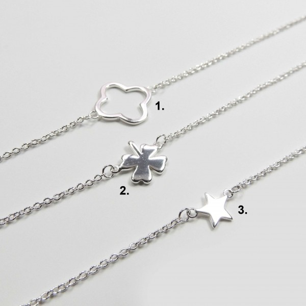Silver Plated Link Chain Delicate Geometric Necklace, Length  16
