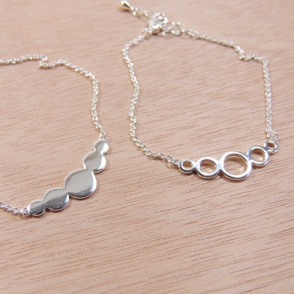 """Silver Plated Link Chain Delicate Geometric Bracelet, Length 7.5"""""""