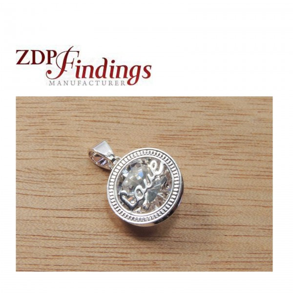 Silver Plated Crystals Zirconia Pendant Necklace