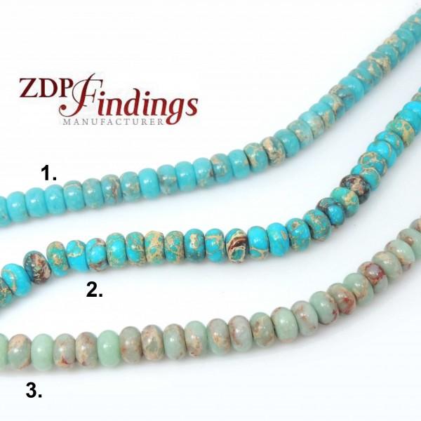 "8x5mm Natural Jasper Rondelle Beads 16"" (206049, 208059)"