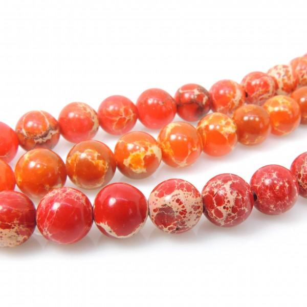 8mm Natural Jasper Round Beads 16