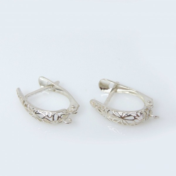 16mm Silver 925 Leverback Earrings Hooks
