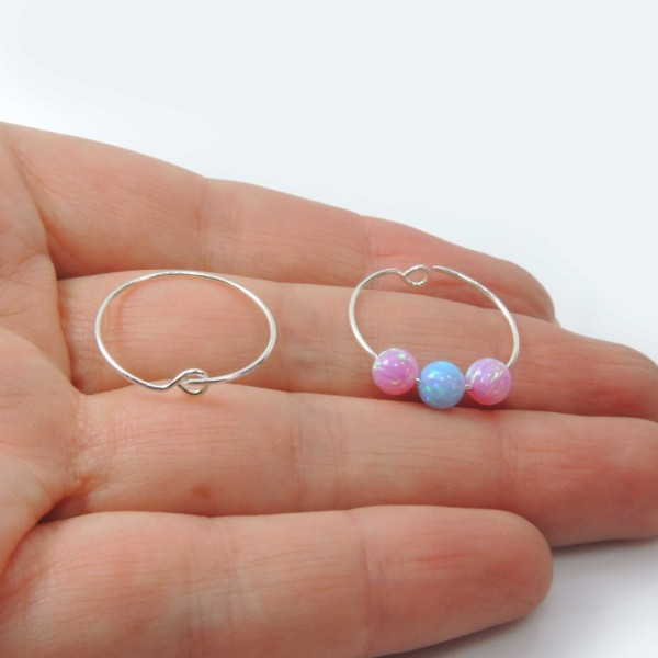 Shiny Sterling Silver 925 Delicate Minimal Wire Hoop Earrings