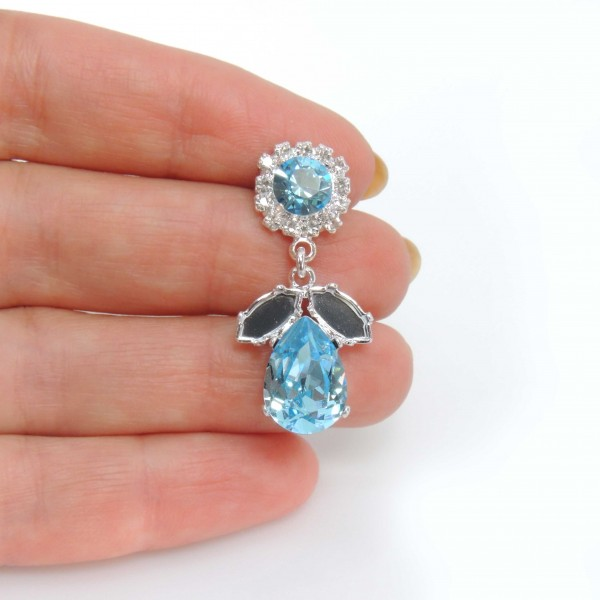 Pear 14x10mm Bezel Earrings fit Swarovski 4320, SS34