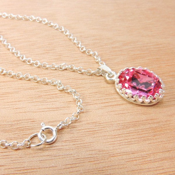 Full kit silver 925 Swarovski Necklace DIY