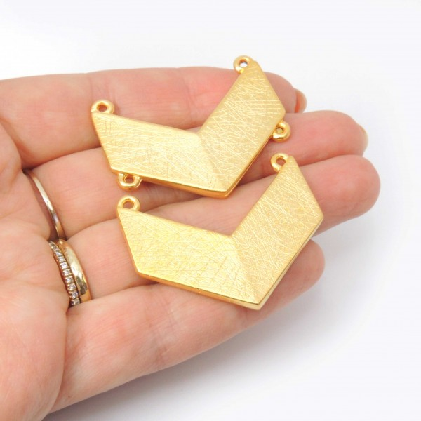 Set 3pcs Military 40mm Brushed Large Pendant