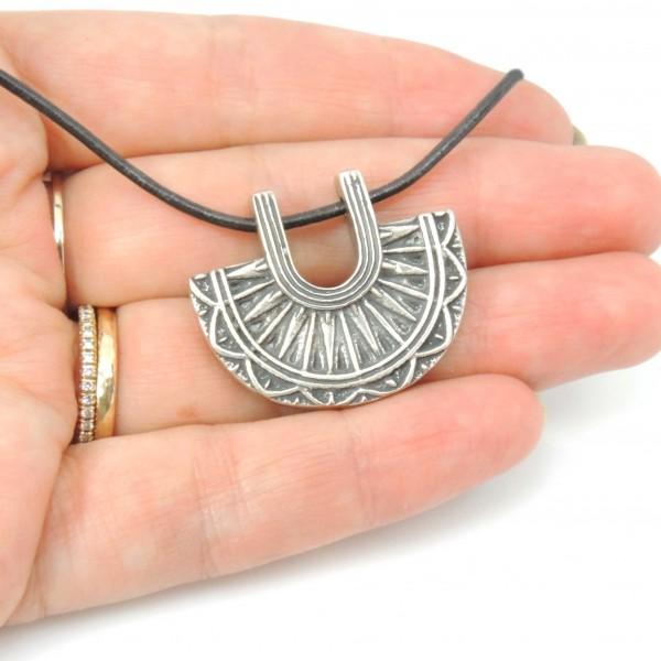 Large 30x25mm Tribal Ethnic Pendant Necklace