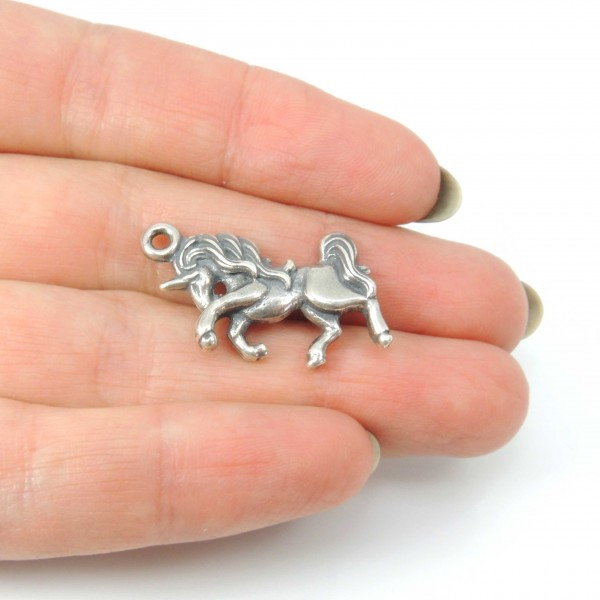 Large 15x25mm Horse Sculpture Pendant Necklace Making