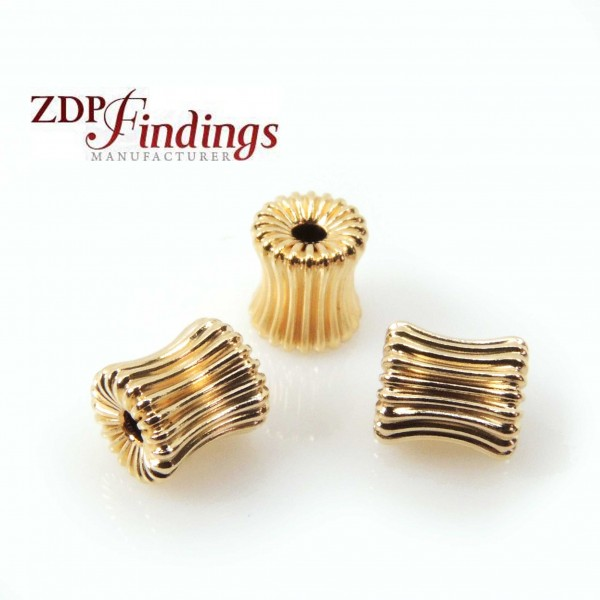 14K Gold Filled Barrel 6mm Spacer Beads, 1.5mm hole
