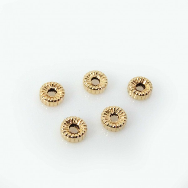 14K Gold Filled Rondelle 4mm Spacer Beads, 1.5mm hole