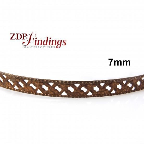 7mm Width Brass Gallery Pattern Wire, 24 inch
