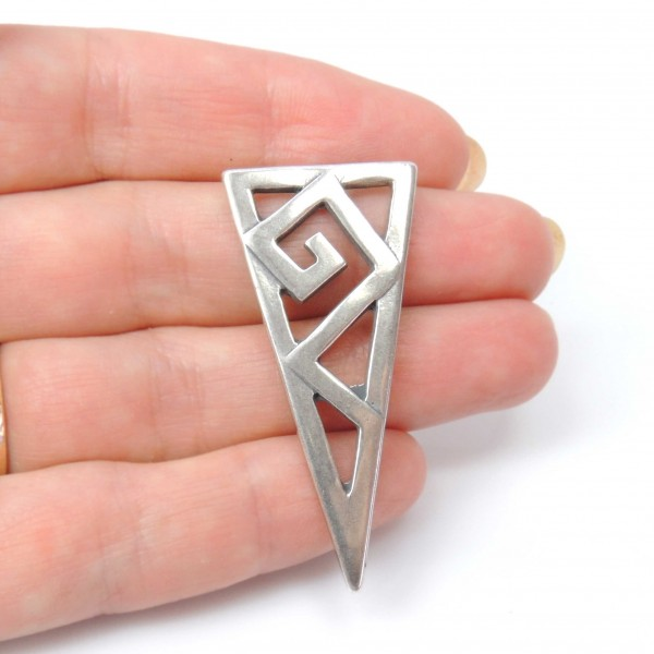 Large 48mm Geometric Triangle Pendant Charm