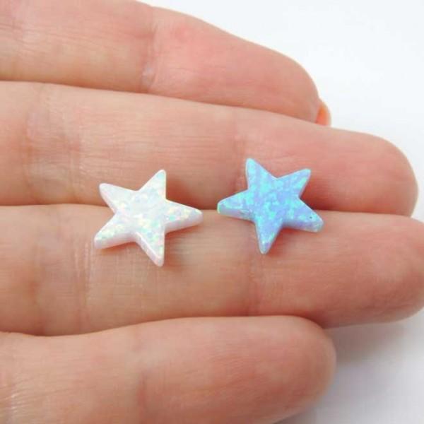12mm Opal Star Bead Charm Pendant