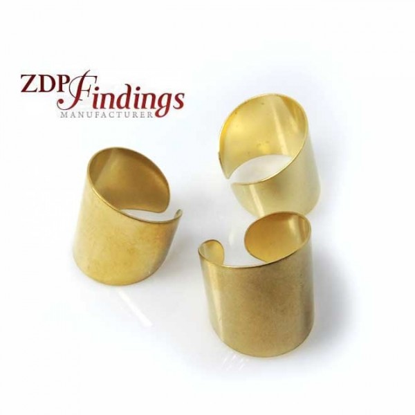 Adjustable Brass Ring Setting Blank, 23mm top