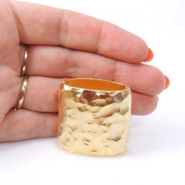 33x18mm Decorative Slider Matte Gold Bead Napkin Ring
