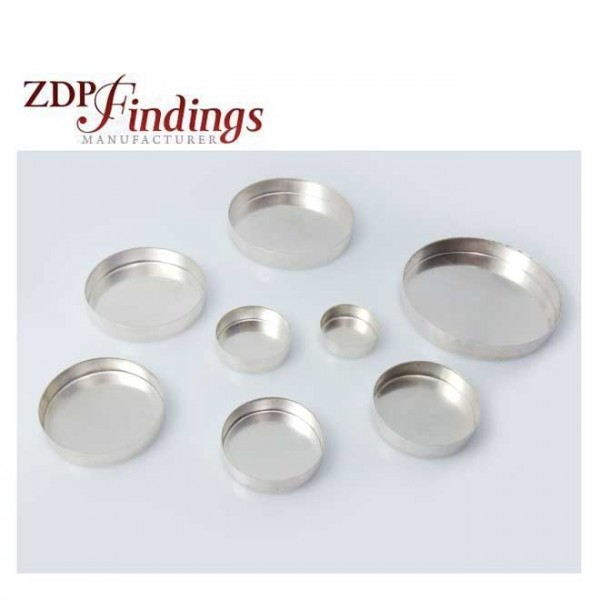 Very Deep Round Sterling Silver 925 Bezel Cup