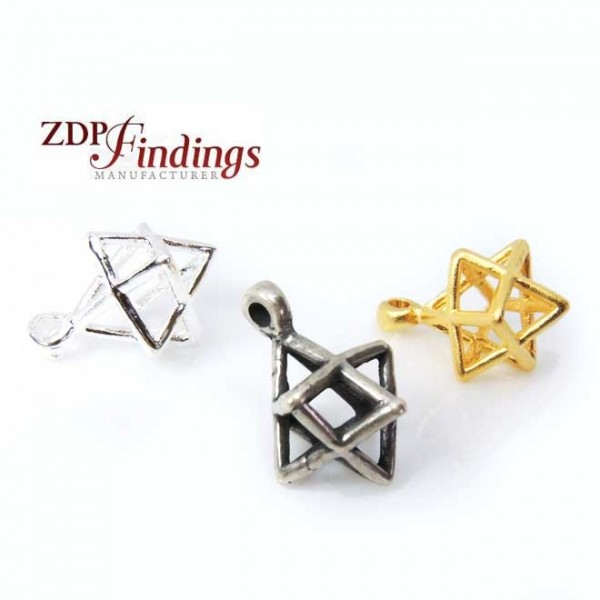 16mm Merkaba Star of David Cage Pendant