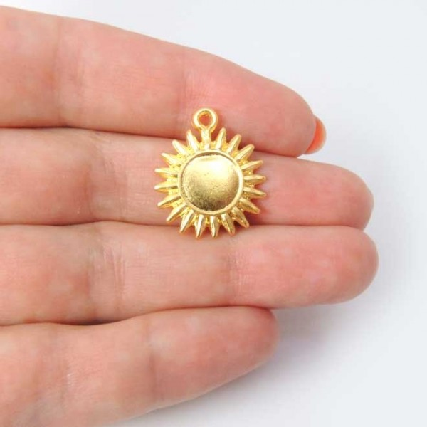 20mm Metal Sun Sunflower Pendant Charm
