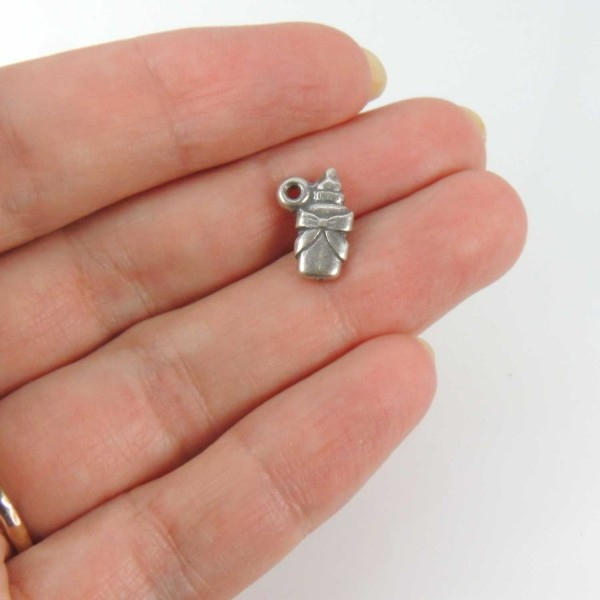 12mm Metal Pacifier Baby Dummy Pendant Small Charm