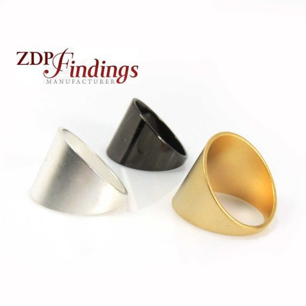 Simple Modern Geometric Plain Ring 15mm / 19mm top