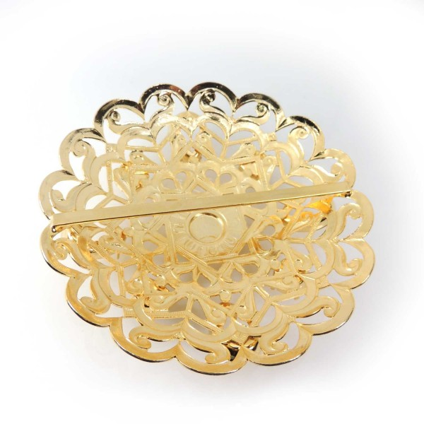 Round 90mm Flower Belt Buckle Setting Pendant