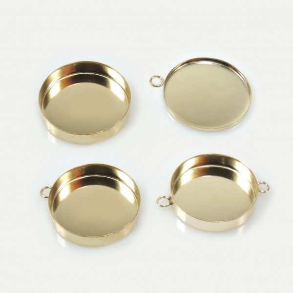 18mm Round Gold Filled Bezel Cup