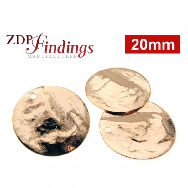 20mm Round Rose Gold Discs