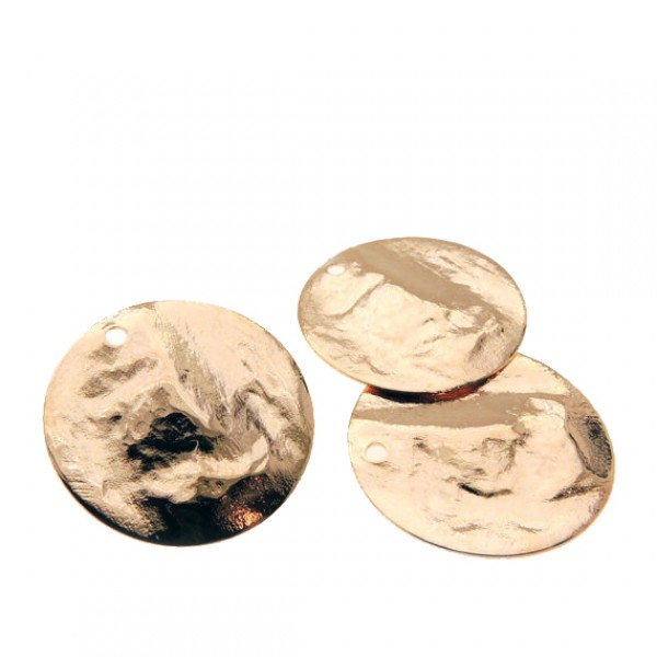 30mm Round Rose Gold Discs