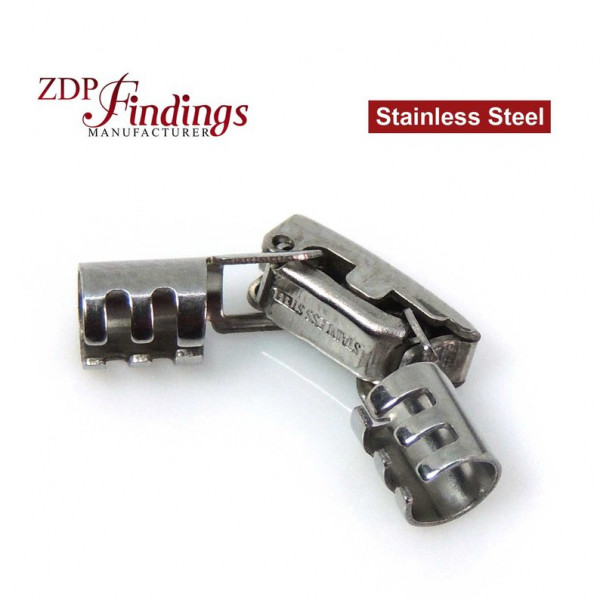 stainless Steel Clasp/Closure, Locking Snap-in