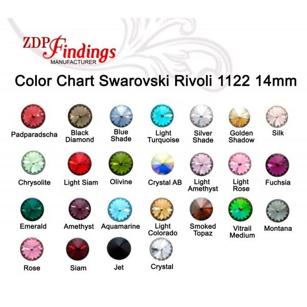 14mm 1122 Swarovski Rivoli , Choose you color