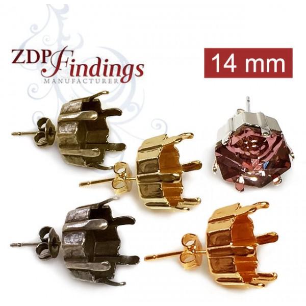 14mm 4681 Swarovski Post Earrings, Choose your options