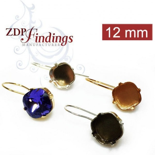 12mm 4470 Swarovski Kidney Wire Earrings, Choose your options