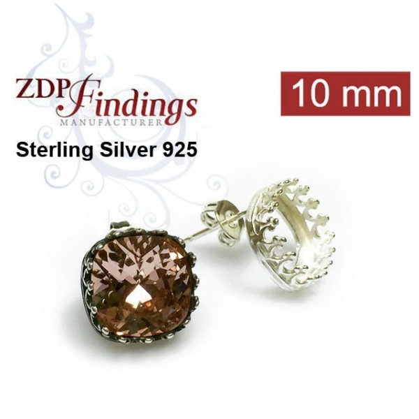 10mm 4470 Swarovski Post Earrings, Choose your options