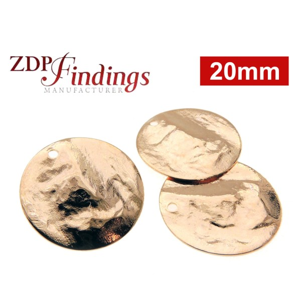 12mm Round Rose Gold Discs