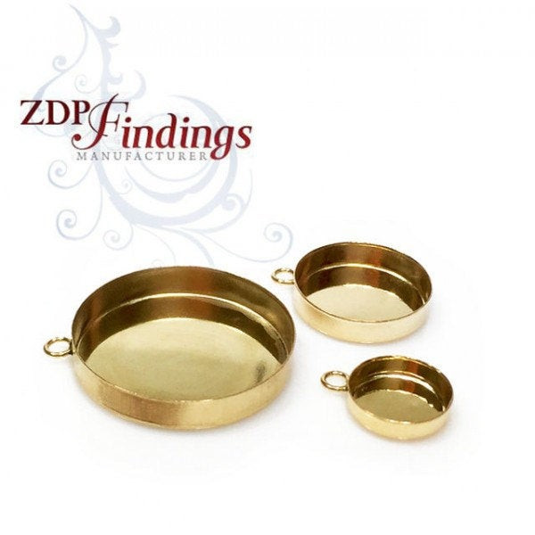 14k Gold filled Bezel Cup - Choose design