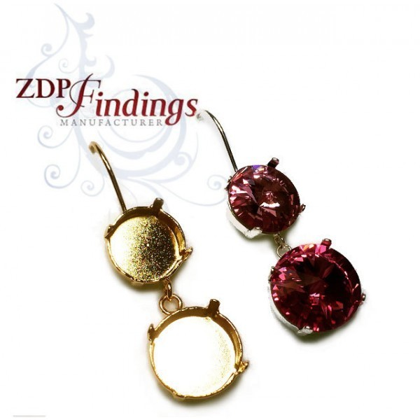 14mm 1122 Swarovski Kidney Wire Earrings, Choose your options