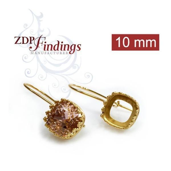 10mm 4470 Swarovski Kidney Wire Earrings