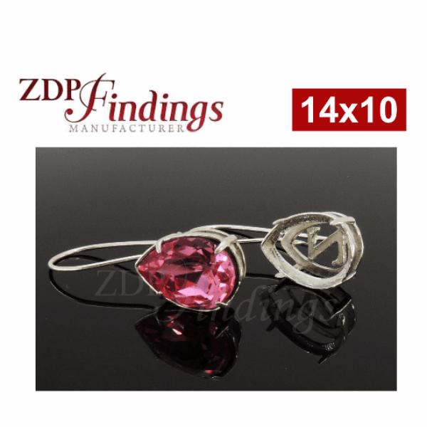 14x10mm 4320 Swarovski Kidney Wire Earrings
