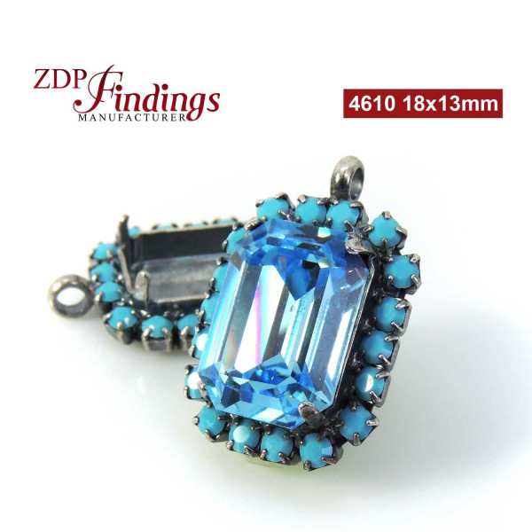 18x13mm Octagon Pendant fit Swarovski 4610