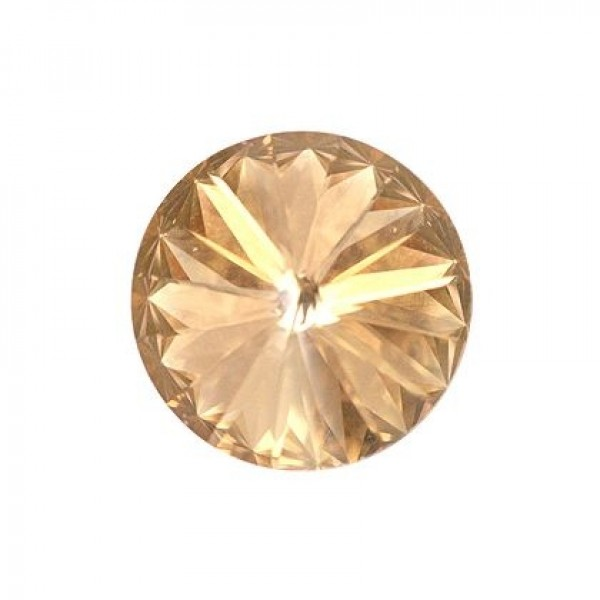 Round Rivoli swarovski 1122 16mm Golden Shadow