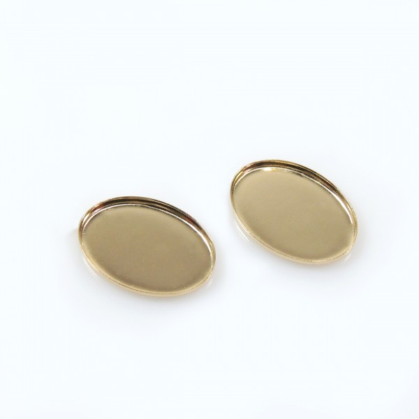 14x10mm Oval Gold Filled Bezel Cup