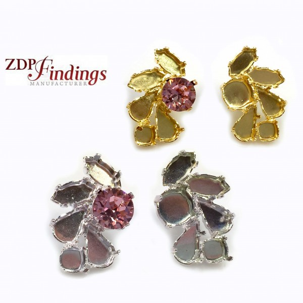 ss39 1028, 1088 Swarovski Post Rhinestone Earrings