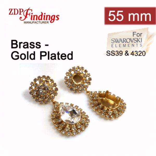 18x13mm 4320 Swarovski Post Rhinestone Earrings