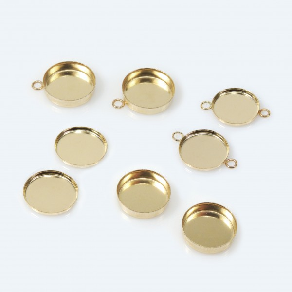 10mm Round Gold Filled Bezel Cup
